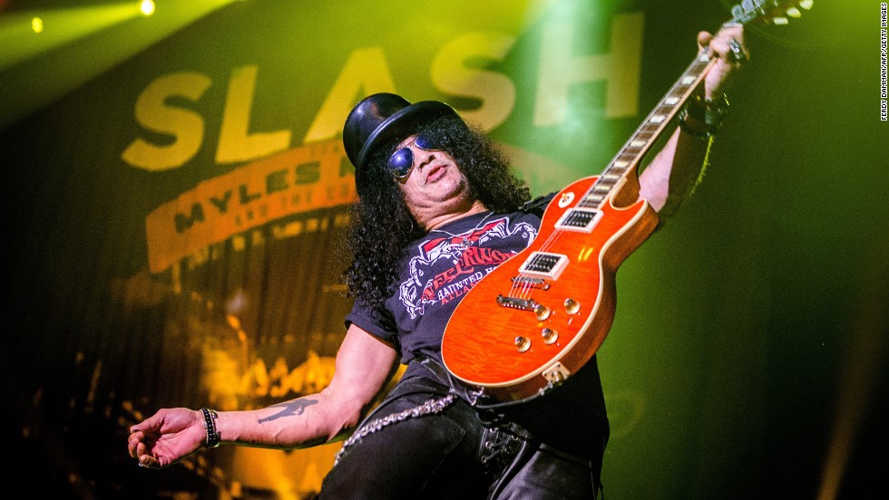 Guitarist Slash rocked into his 50s on July 23.