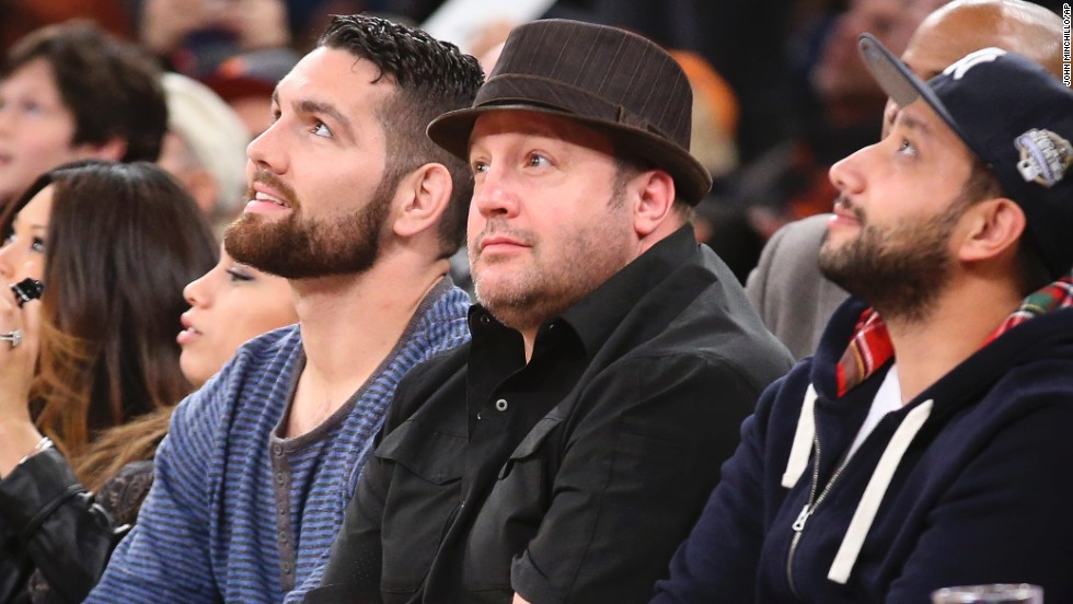 "Kevin James, center in hat, who played the ""King of Queens,"" turned 50 on April 26."
