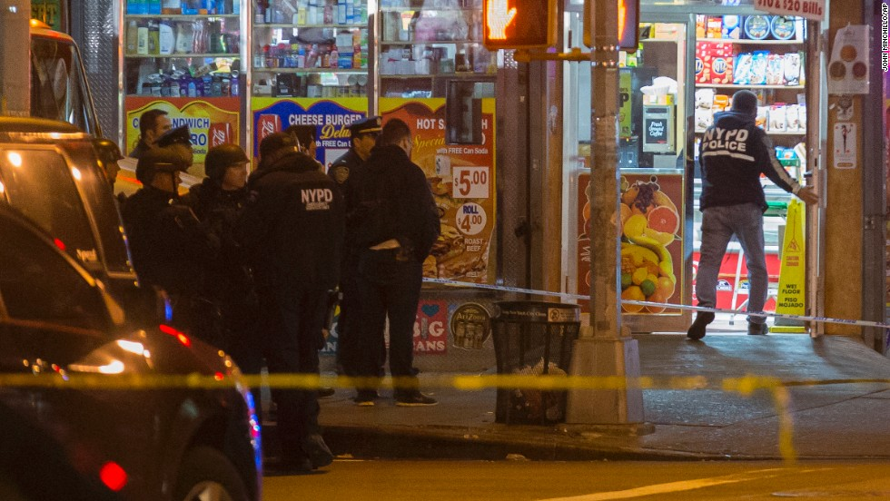 "The officers -- one with two years' experience, the other with seven years on the job -- were normally assigned to downtown Brooklyn but were working a ""critical response"" detail in an area with higher crime, police said."