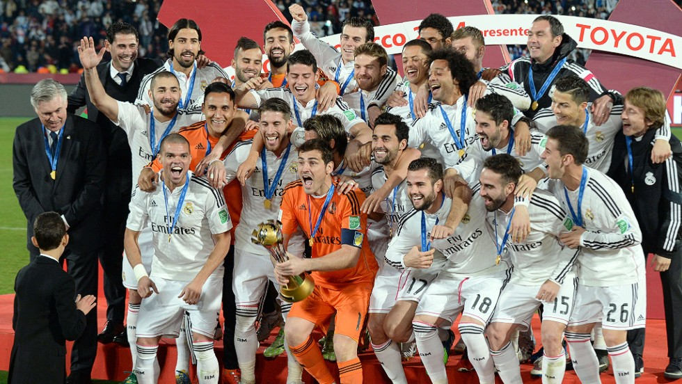 It's been a year to celebrate for Real Madrid who finally get their hands on the Club World Cup -- their fourth trophy of 2014.