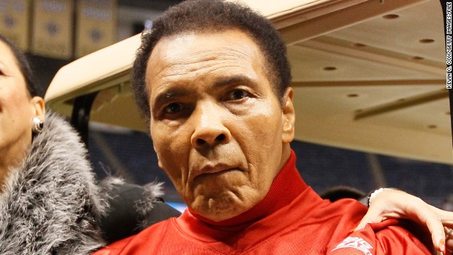 Muhammad Ali at the Allstate Sugar Bowl in New Orleans on January 2, 2013.