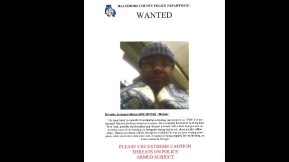 Police sent a warning flier about Ismaaiyl Brinsley.