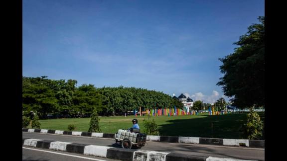 Ten years later, Taman Safari Park in Indonesia has been cleared of debris.
