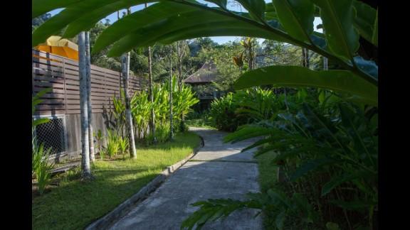 Plants grow at the rebuilt Wannaburee Resort in Khao Lak.