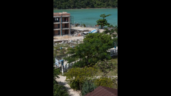 Construction continues today in Phi Phi Village.