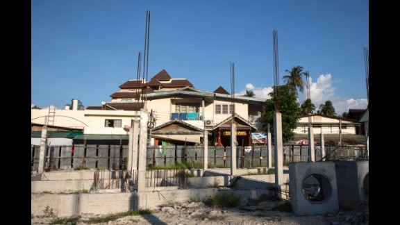 Construction continues today in the Phi Phi Village.