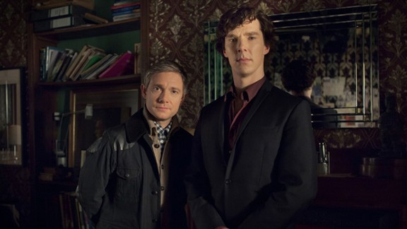 """""""Sherlock"""": """"Luther"""" isn't the only British import you should spend time with this holiday. Star Benedict Cumberbatch, right, who plays Sherlock Holmes to Martin Freeman's Watson, has been lining up plenty of movie work lately, but his take on this classic character remains one of our favorites. If you haven't yet bought into the Cumberbatch love, this will do it."""
