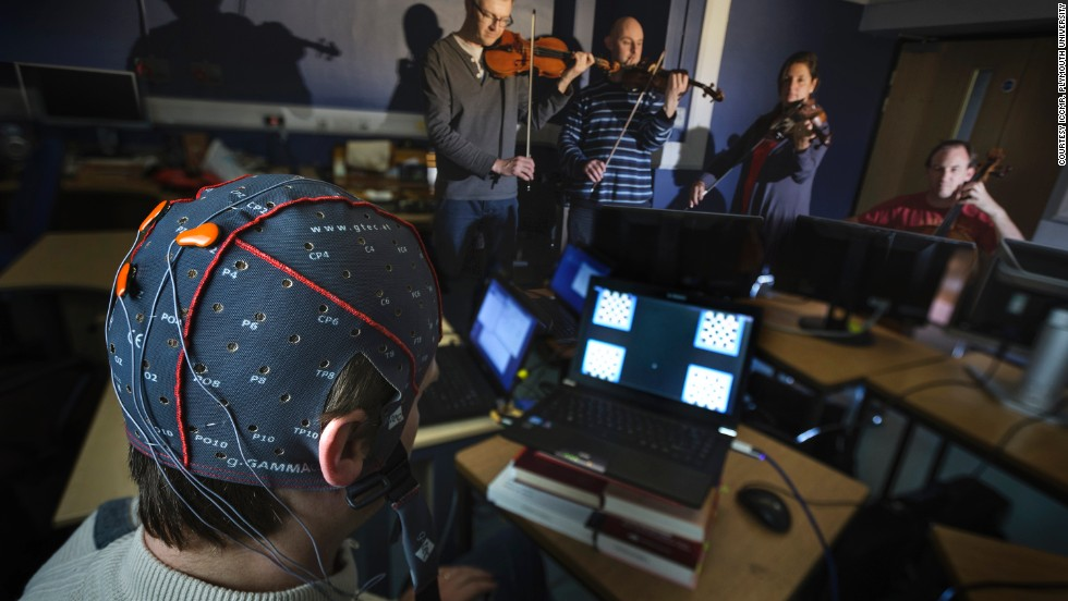 The new system, designed at UK's Plymouth University fuses tech and music allowing people to compose melodies using their eyes. The brain computer music interface (BCMI) uses electrodes plugged into the back of the head.