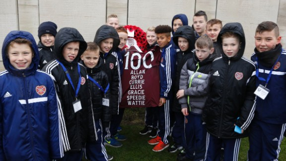 Youngsters from Hearts, which played an integral part in Britain