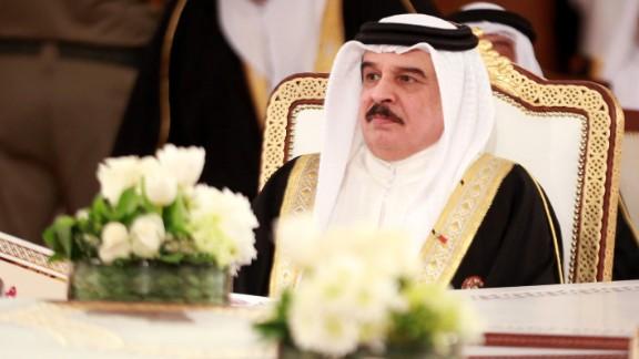 Hamad bin Isa Al Khalifa, shown here in November, is King of Bahrain.