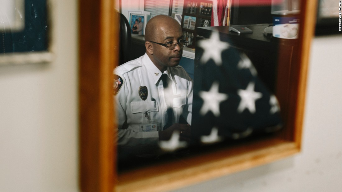 Police Chief William Riley came to Selma in 2008. He was hired from the East Coast, an outsider untouched by local politics. He has no illusions about the tensions between police and black men but says it's disingenuous of activists to compare Selma to Ferguson, Missouri.