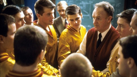 """""""Hoosiers"""" (1986): A coach with a questionable past and a man with a drinking problem take over training a high school basketball team in this popular '80s film. (Amazon)"""