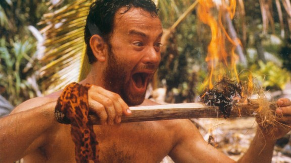 """""""Cast Away"""" (2000): Tom Hanks carries this film as a man who ends up on a deserted island. Wilson forever. (Netflix)"""