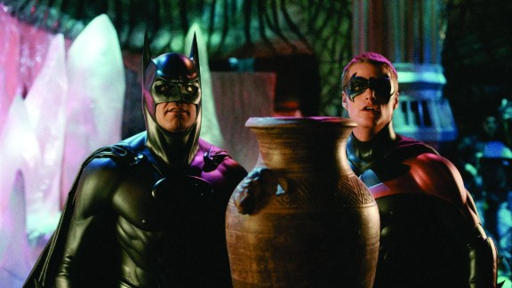 """""""Batman & Robin"""" (1997): George Clooney and Chris O'Donnell star as the Caped Crusader and the Boy Wonder in this action film. (Netflix)"""