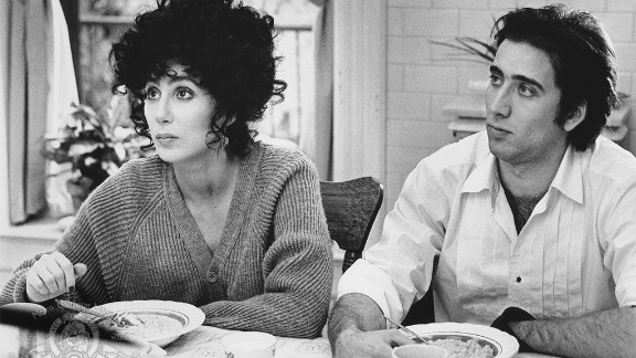 """""""Moonstruck"""" (1987): Cher and Nicolas Cage play unexpected lovers in this film, which won Cher an Oscar for best actress. (Amazon)"""
