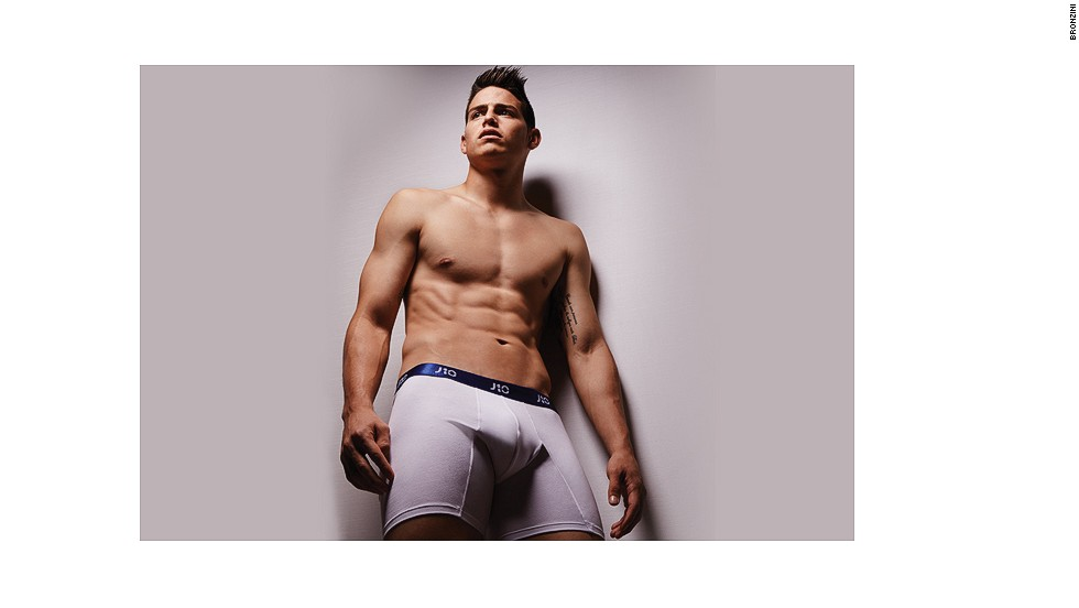 Real Madrid's James Rodriguez is the latest soccer star to launch his own underwear collection, in partnership with Colombian brand Bronzini, just in time for Christmas.