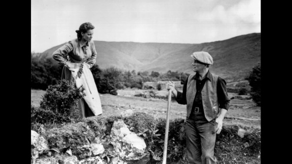 """""""The Quiet Man"""" (1952): Maureen O'Hara and John Wayne star in this romantic comedy about an American boxer who returns to the town in Ireland where he was born. (Netflix)"""