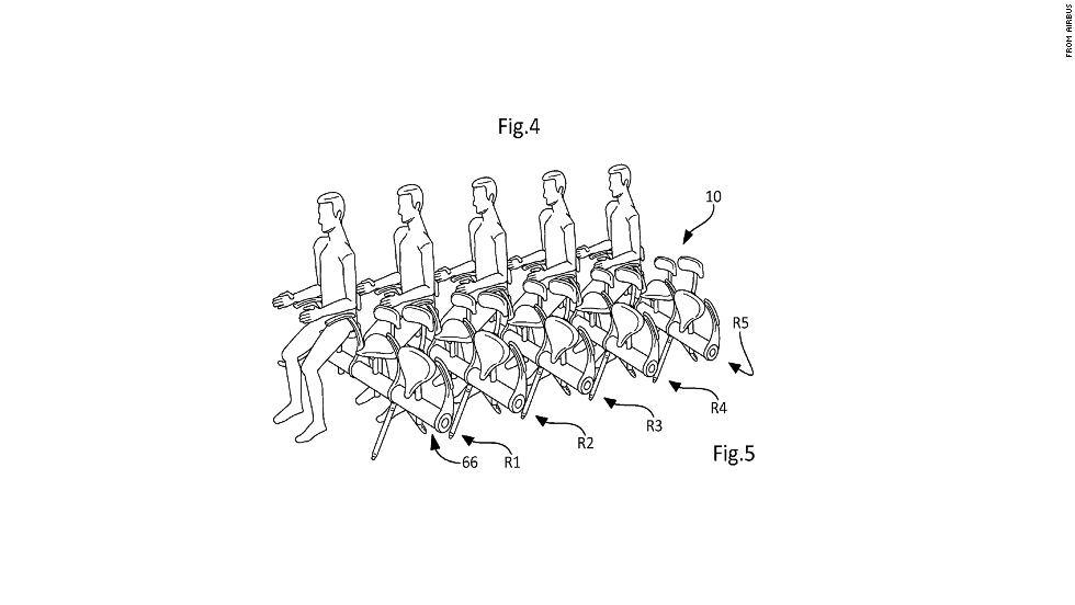 On cue came news that Airbus filed a patent application for saddle seats on which passengers perch rather than recline. Airbus said the patent doesn't mean it'll be saddling up its aircraft.