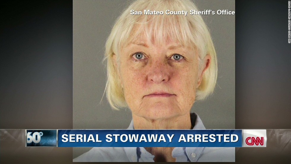 After three attempts to stow away on planes, a 62-year-old woman slipped past a checkpoint in California without a ticket and boarded a flight bound for Los Angeles. She was later arrested.