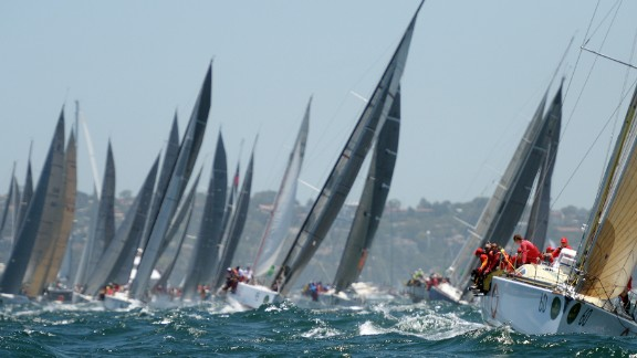 A total of 117 yachts -- the biggest entry since 1994 -- started the race, which has been run for 70 years.