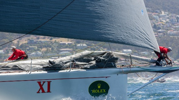 Wild Oats XI won a record eighth line honor in the annual Sydney-Hobart race in Australia when it bettered the high-profile Comanche.