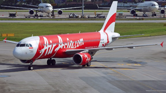 The missing AirAsia Airbus A320-200 plane, seen in a 2013 file photo taken in Singapore.