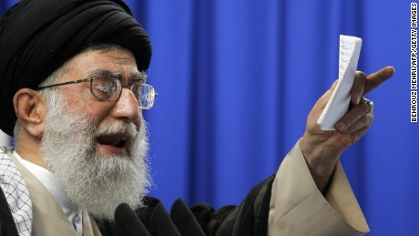 Iran's Supreme Leader Ayatollah Ali Khamenei pictured in June 2009.