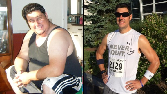 """Kerry Hoffman was motivated to lose about 150 pounds to walk his young daughter down the wedding aisle someday. The day after his """"aha"""" moment -- December 28, 2011 -- Hoffman joined a new gym near his house. In time, he went from not knowing how to use a treadmill to winning a triathlon."""