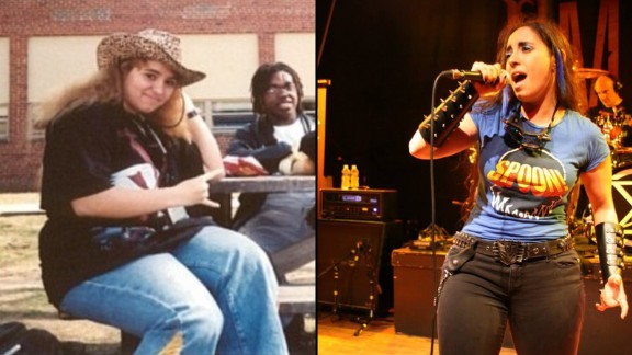 Heavy metal singer Nina Osegueda was terribly hurt when her college boyfriend suggested she lose weight. She switched to a low-carb, high-protein diet, took up belly dancing and dropped 60 pounds. Twelve years later, she has kept off the weight and is happily married to another man.