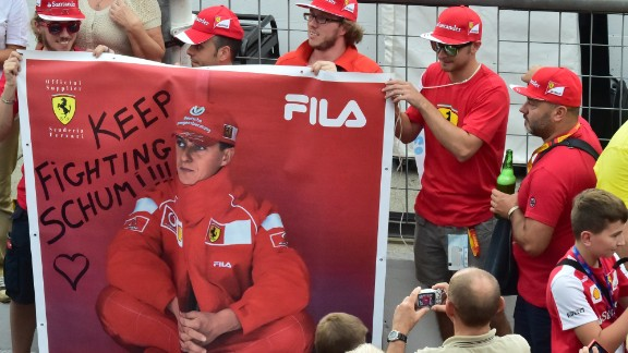 Fans of Michael Schumacher around the world are urging the Formula One record breaker to keep fighting one year on from his devastating ski injury.
