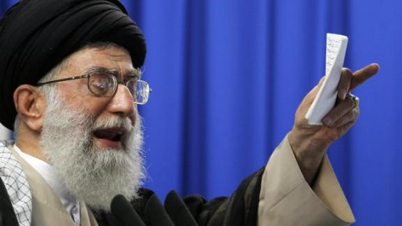 Iran's Supreme Leader Ayatollah Ali Khamenei pictured in June 2009.