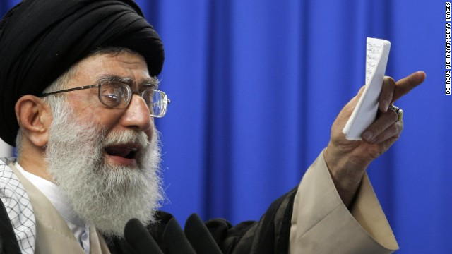 Iran's Supreme Leader Ayatollah Ali Khamenei pictured in June 2009