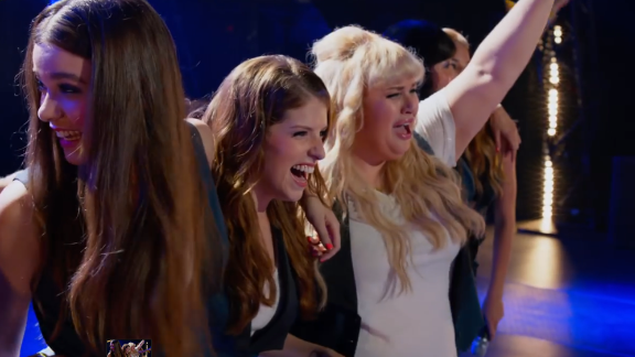 """One of the surprise hits of 2012 was """"Pitch Perfect,"""" starring Anna Kendrick, center, and Rebel Wilson, right, as singers in a college a cappella group. Naturally, there"""