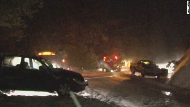 Drivers stranded in California snowstorm