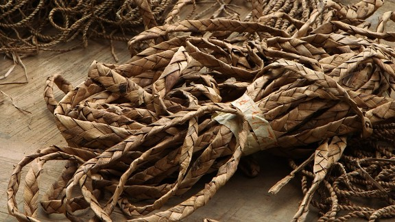 """Idachaba explains: """"We weave them into different types of ropes, different sizes, different patterns."""""""