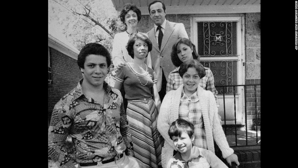 Mario Cuomo is seen with his family in 1977.