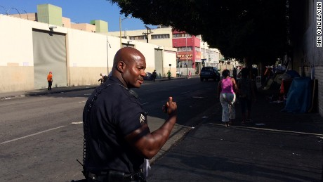 Joseph's beat  includes some of Skid Row's meanest streets.