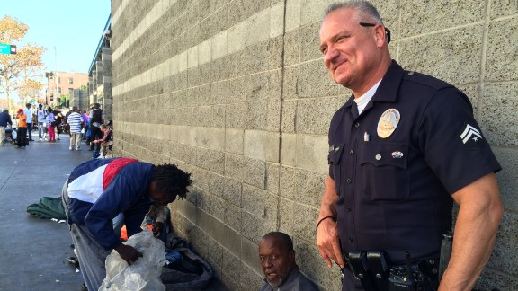 Joseph's partner, Danny Reedy, warned a reporter about the unsanitary conditions on Skid Row.