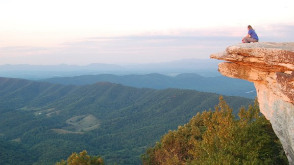 Highlights along the 3,510-kilometer Appalachian Trail include a section through North America