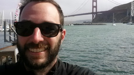 John Sutter's selfie at the Golden Gate Bridge in 2013, after he finished a reporting trip down the San Joaquin River in California.