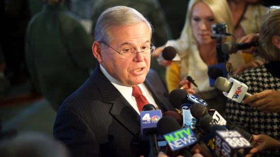 Sen. Bob Menendez in New Jersey last December.