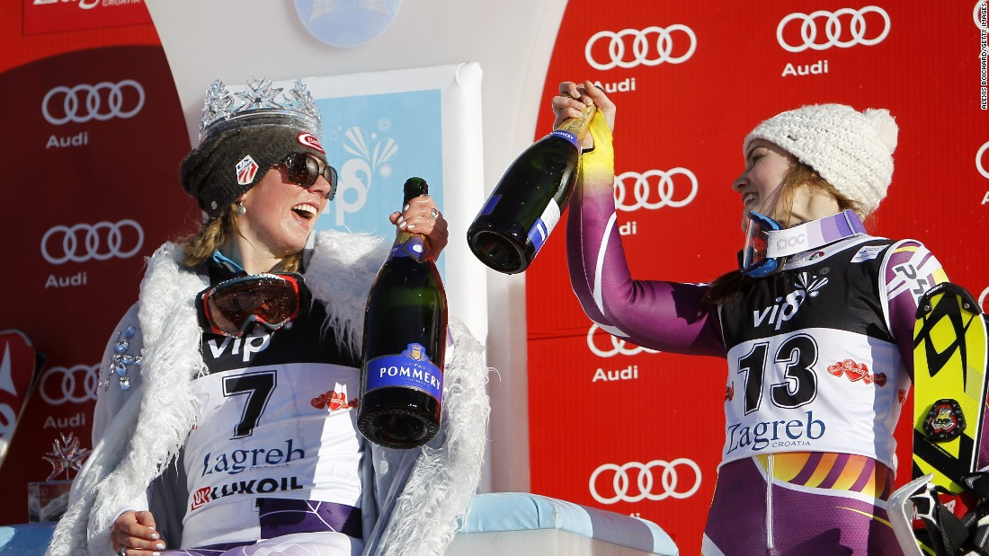 Kathrin Zettel of Austria took second place while Nina Loeseth (right) of Norway finished third.