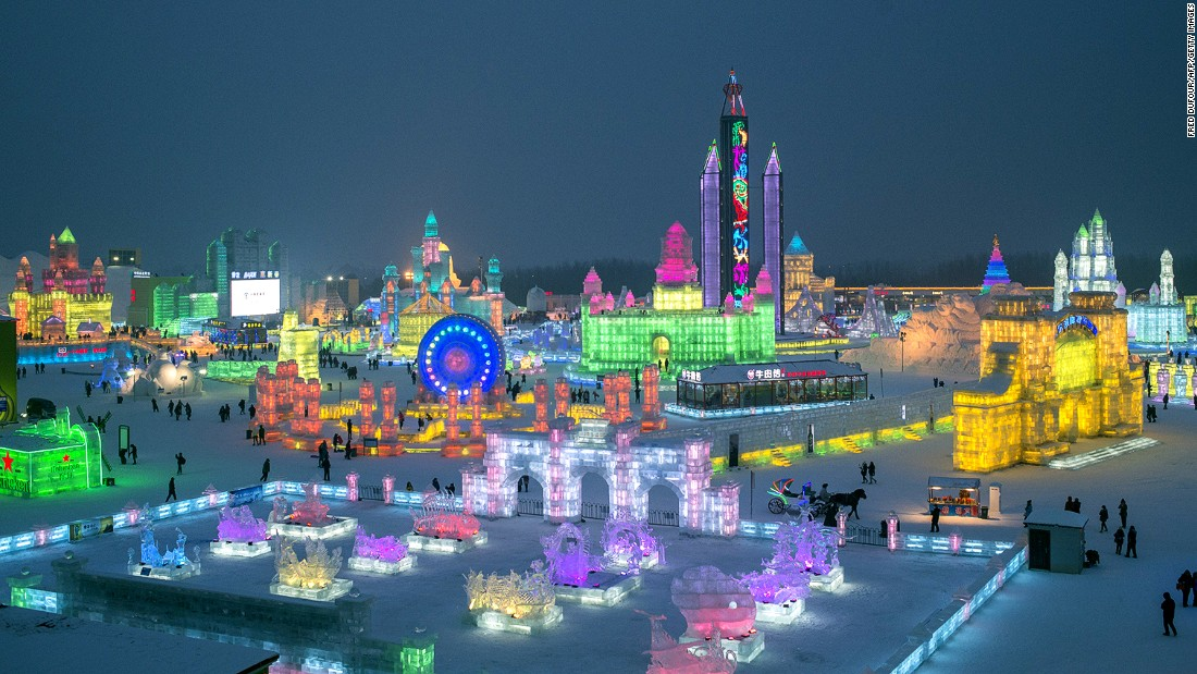 Featuring Amazing Sculptures And Replicas The 16th Harbin International Snow Ice Festival Opened January