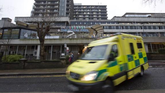 Scottish nurse Pauline Cafferkey is being treated for meningitis at London's Royal Free Hospital.