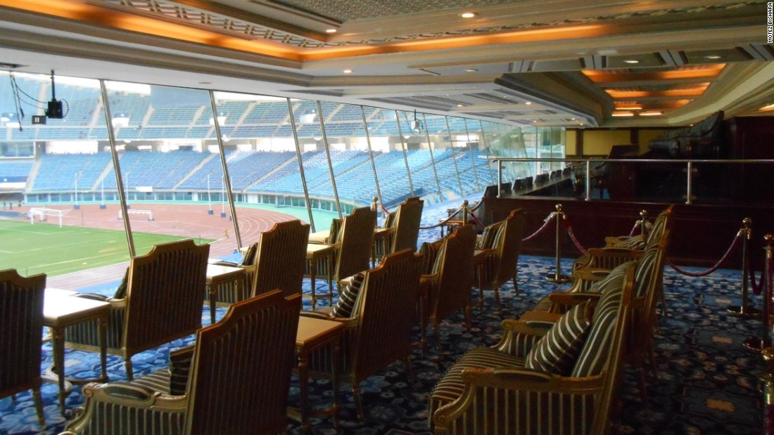 Forget VIPs -- the Jaber Al-Ahmad International Stadium was built to cater for VVIPs. Its elite seating section, known as the Emir's Box, is modeled on Arsenal's directors' box.