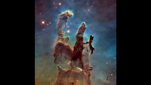 "NASA has captured a stunning new image of the so-called ""Pillars of Creation,"" one of the space agency"
