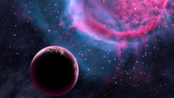 """This artist's conception depicts an Earth-like planet orbiting an evolved star that has formed a stunning """"planetary nebula."""" Earlier in its life, this planet may have been like one of the eight newly discovered worlds orbiting in the habitable zones of their stars."""