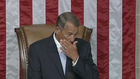 Emotional Boehner speaks on re-election