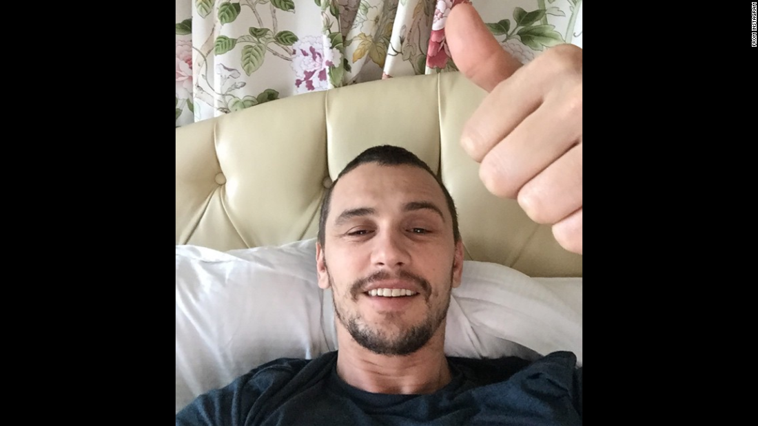 """One more bed selfie for 2014! What a wild year,"" actor James Franco said <a href=""http://instagram.com/p/xR7ap4y9cQ/?modal=true"" target=""_blank"">on his Instagram account</a> on Wednesday, December 31."