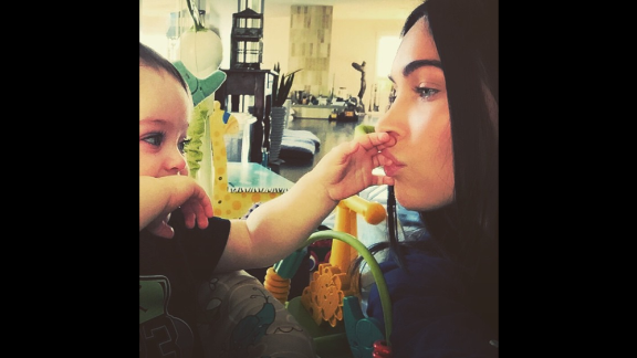 """""""I will give you roots and I will give you wings,"""" wrote actress Megan Fox as she <a href=""""http://instagram.com/p/xgNAhcmJmn/?modal=true"""" target=""""_blank"""" target=""""_blank"""">posted a selfie</a> with her and her son Bodhi on Tuesday, January 6."""